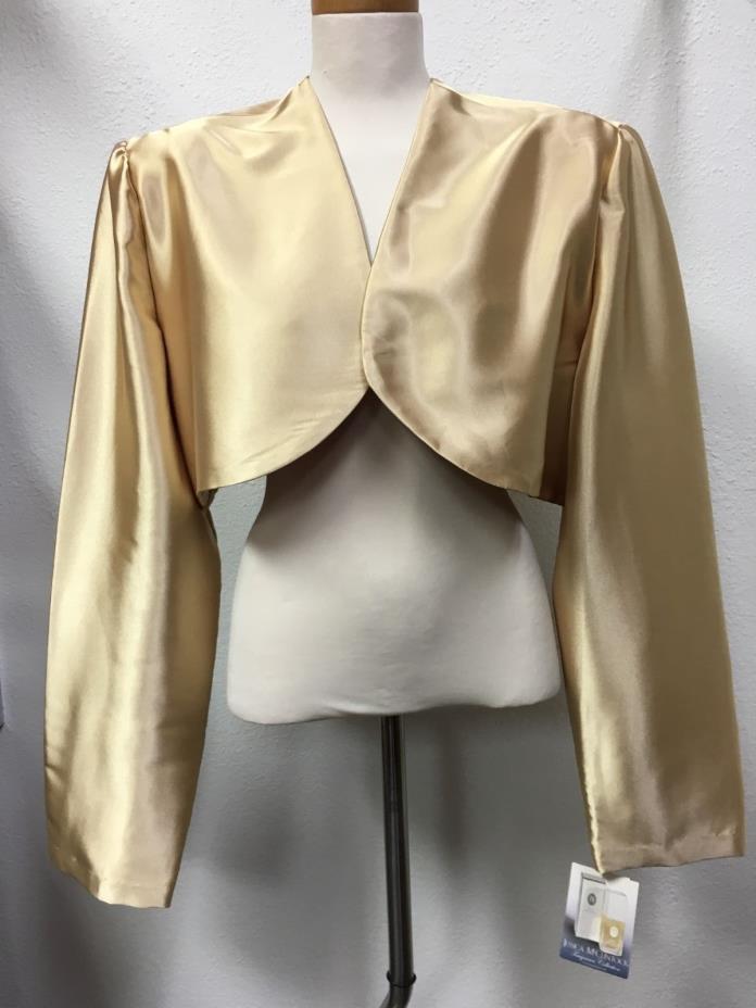 NWT Jessica McClintock Bridal Womens Gold X-Large XL Bolero Top