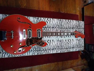 orange univox hollowbody 335 original vintage guitar