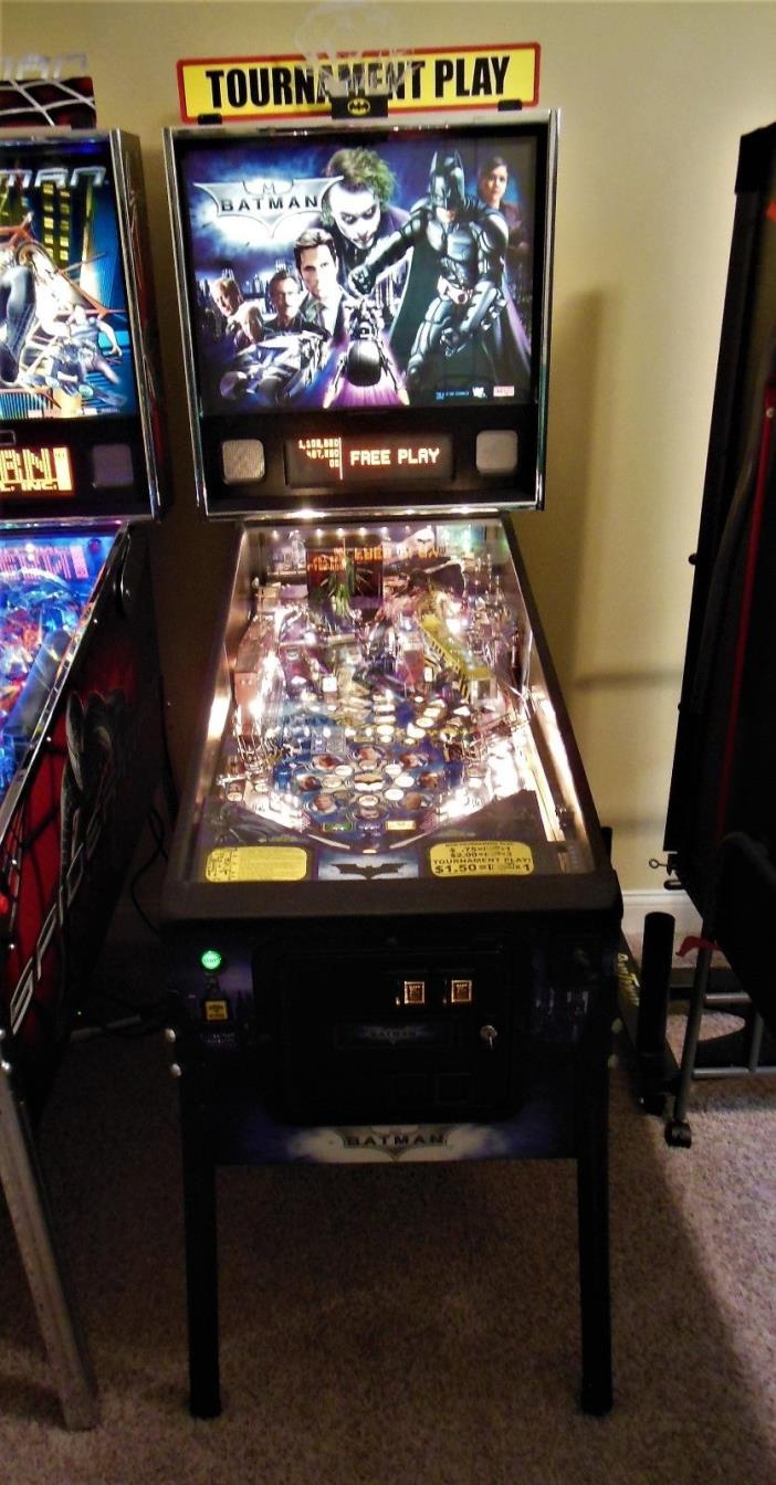 BATMAN DARK KNIGHT PINBALL MACHINE BY STERN LED'S & CUSTOM MODS HUO LOW PLAYS