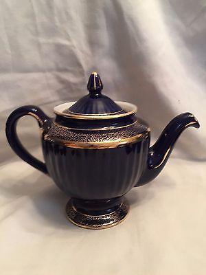 Vintage Hall Cobalt Blue and Gold Teapot