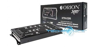 ORION XTR-X3R 3-WAY ELECTRONIC CROSSOVER NETWORK REMOTE BASS BOOST LEVEL CONTROL