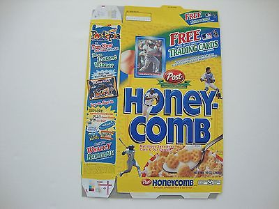 2001 Post Honey Comb Cereal Box with Manny Ramirez Baseball Card in the window
