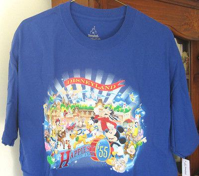 Women's XL Blue Disneyland Printed T Shirt, Disneyland Theme Park Purchase, New
