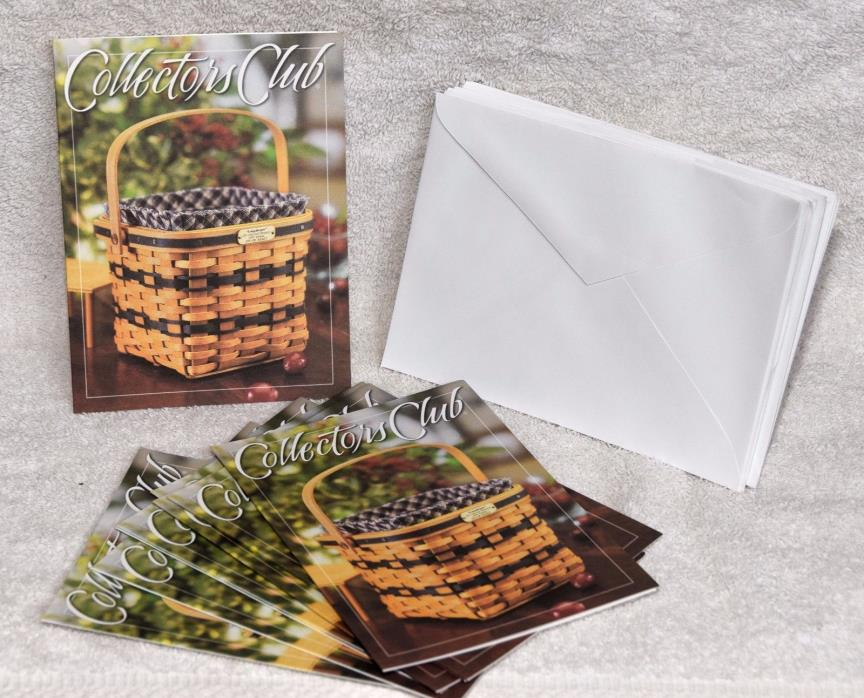 Longaberger Basket Collectors Club JW Collection Miniature Notecards