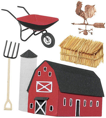 Jolee's Boutique Stickers - Farm Red Barn Straw Bale Pitch Fork Wheelbarrow