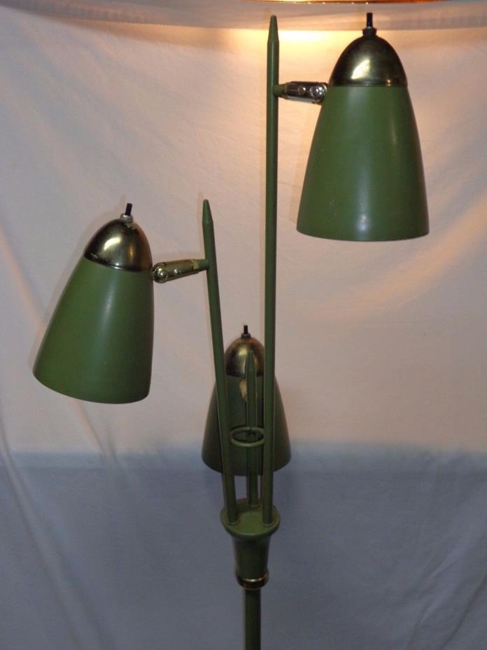 VTG MID CENTURY DANISH MODERN ATOMIC FLOOR LAMP POLE LIGHT SPACE AGE 1950s 60s