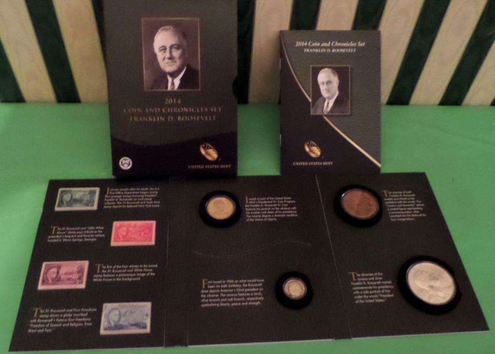 2014 COIN & CHRONICLES SET FRANKLIN D. ROOSEVELT  MINT CONDITION