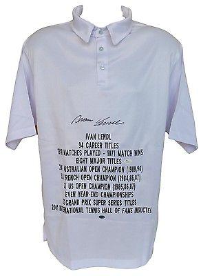 Ivan Lendl Signed Custom Stat Polo JSA