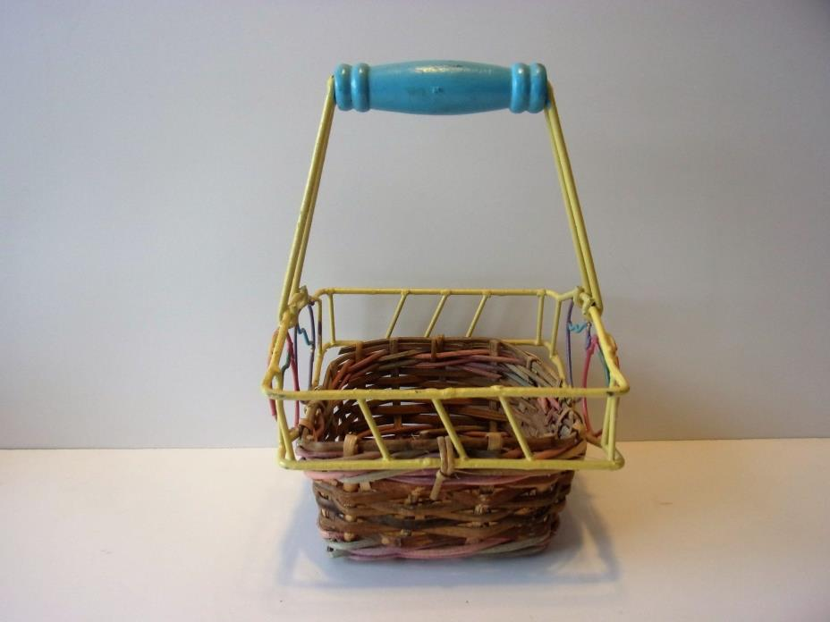 VINTAGE? COLLECTIBLE EASTER BASKET......SHABBY CHIC