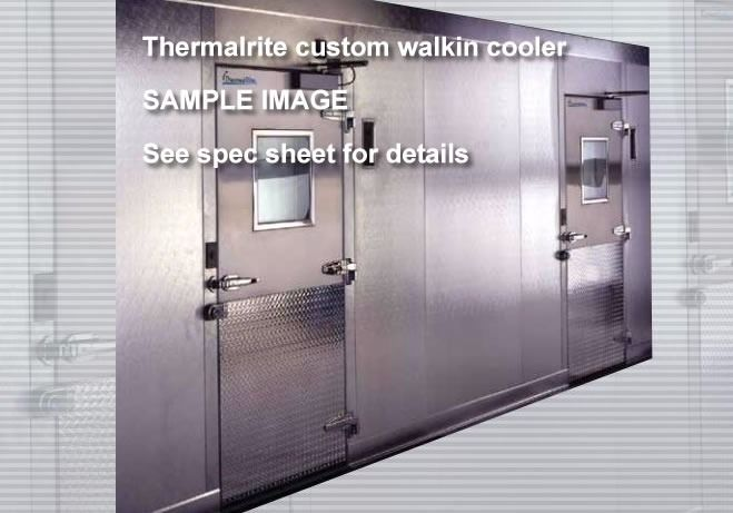 Walk In 2 compartment box, freezer/cooler, 33'6