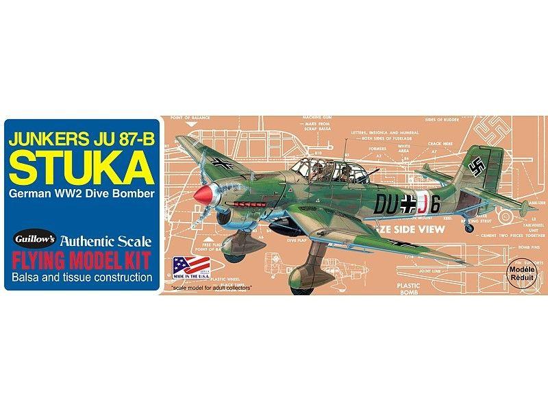 GUILLOWS BALSA 508 DIE CUT STUKA DIVE BOMBER AIRPLANE KIT