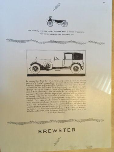 Original Vintage Rolls-Royce/Brewster 1926