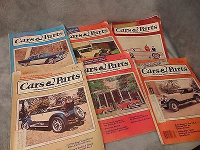 CARS AND PARTS MAGAZINES Lot of 6 1979