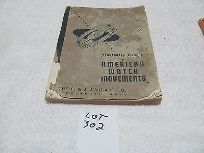 VINTAGE AMERICAN WATCH MOVEMENTS USED BOOKS