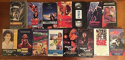 15 Rare Horror VHS Lot slasher metamorphosis tainted mac and me night eyes 2 sov