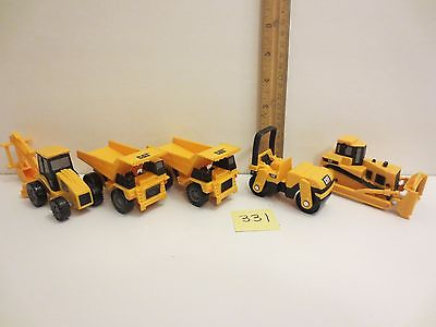 Lot 5 Cat Caterpillar Mini Construction Machines Dozer 2 Trucks Roller Backhoe