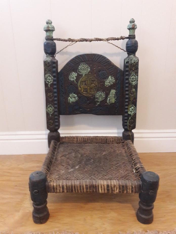 Old, afganistan, decorative  tent chair