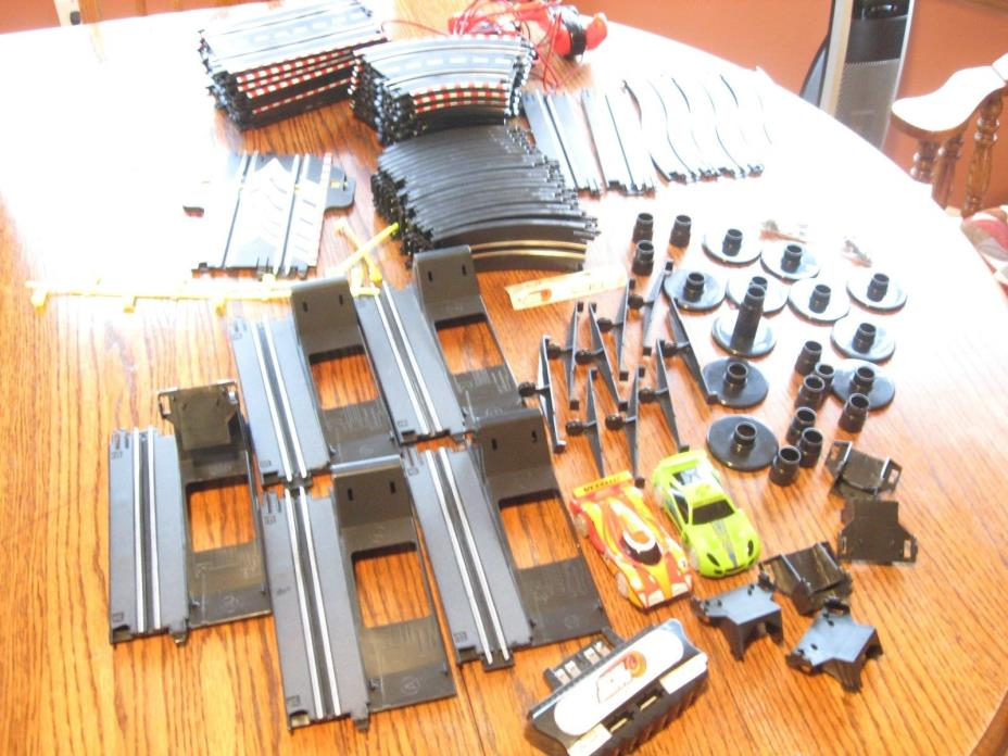 Large Lot Revell Spin Drive Slot Cars, controllers, track and accessories