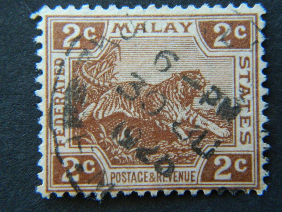 1708  FEDERATED MALAY STATES SC 51 (SG 54) USED