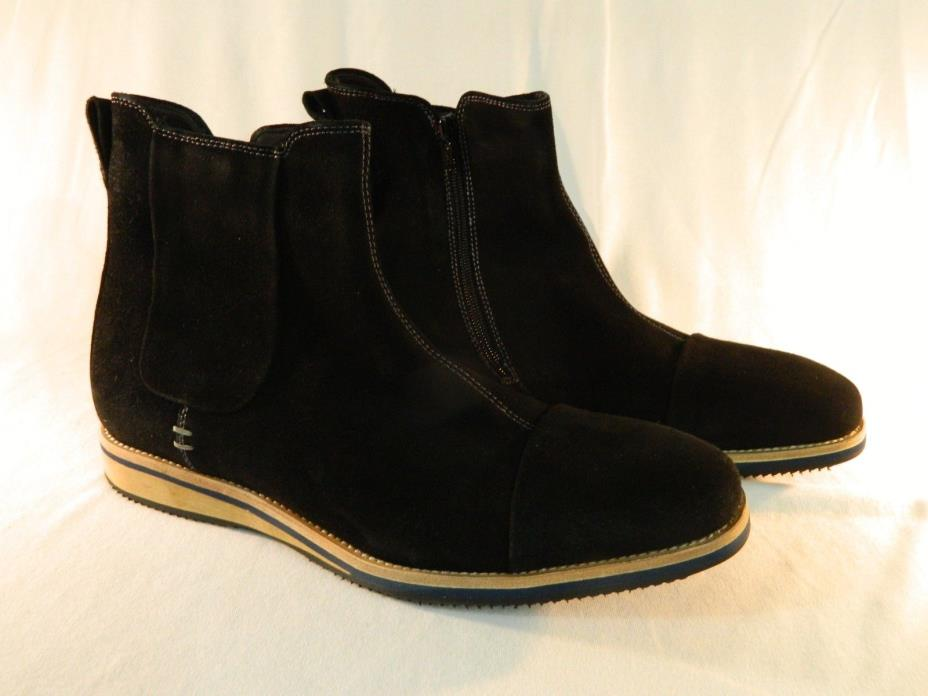 Bacco Bucci Men's Borsetti Black Suede Boot Shoes Size 12 & 9D (M)