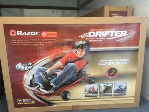 Razor Electric-Powered Go Kart Ground Force Drifter Ride-On Red