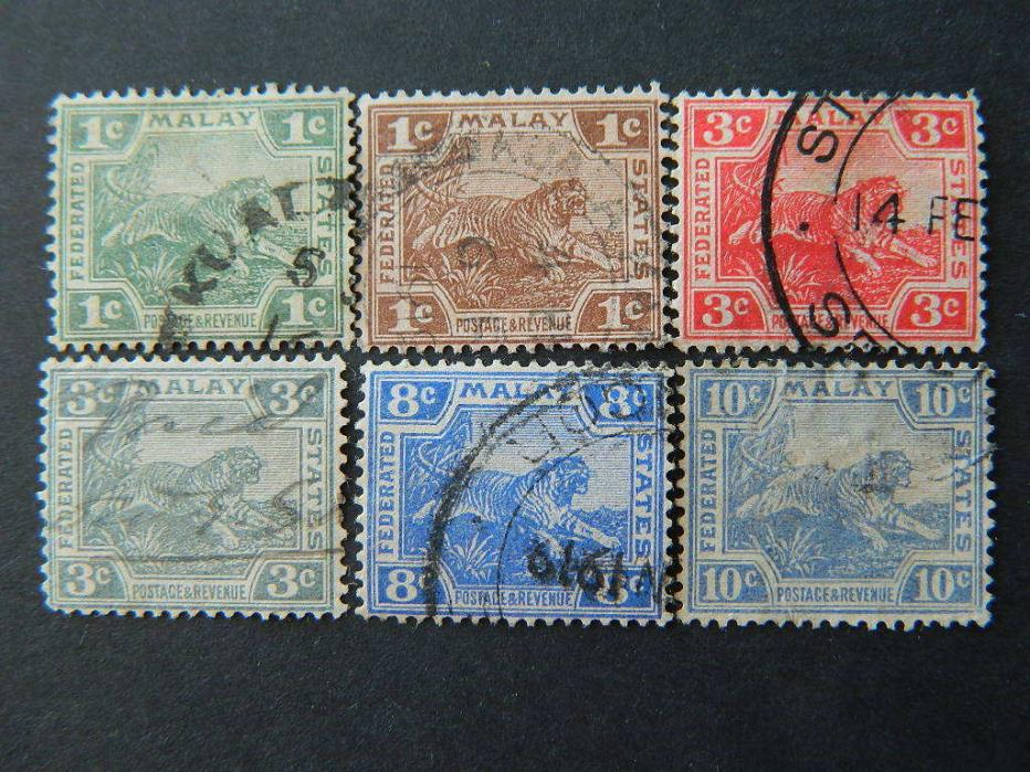 1708  FEDERATED MALAY STATES SC 38//47 (SG 28//44) USED