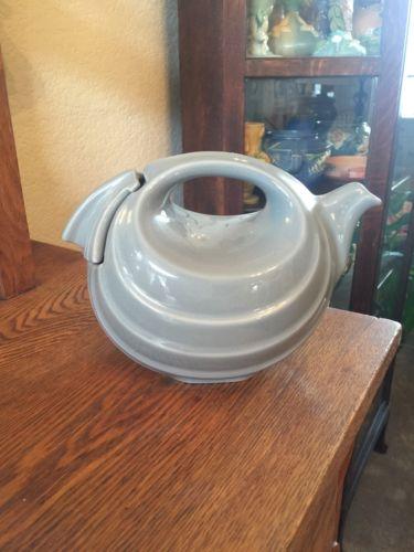 Hall China Rhythm Teapot Rare Gray  6 cups