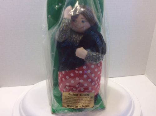 Ireland: Vintage Lady Doll With Irish Blessing