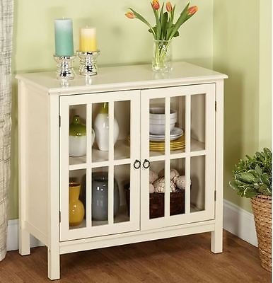 Storage Cabinet With Glass Doors Kitchen China Display Small Curio Buffet Table