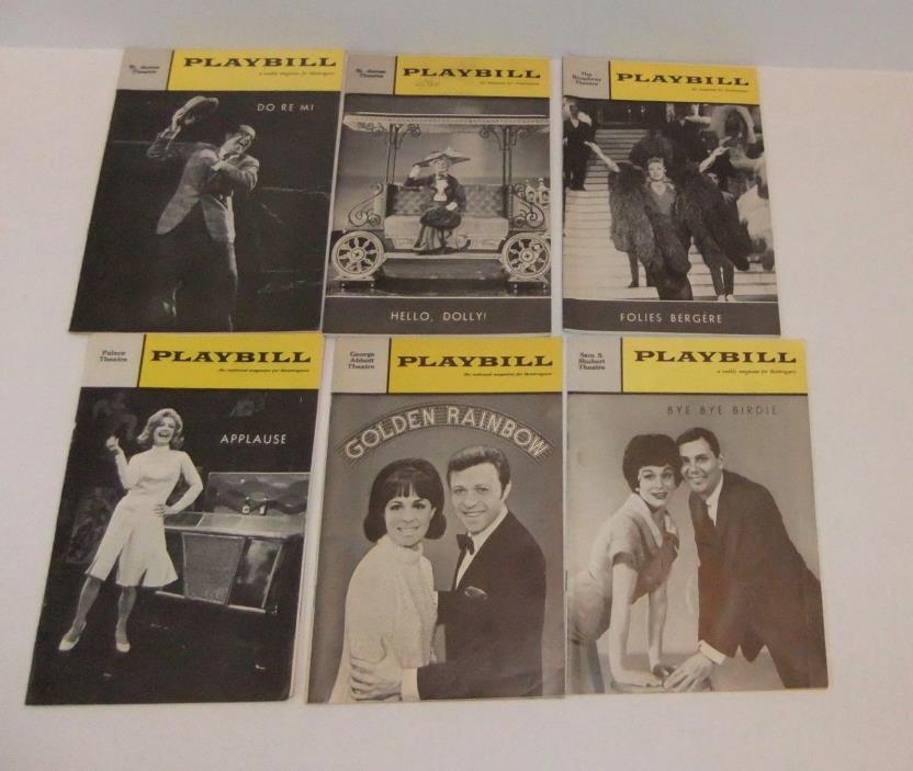 Vintage Playbills LOT of 6 Musicals - 5 from 1960s and 1 from 1970