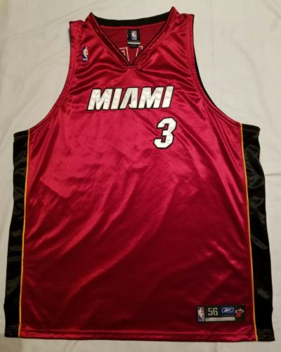 Reebok NBA Dwayne Wade Red Miami Heat Jersey