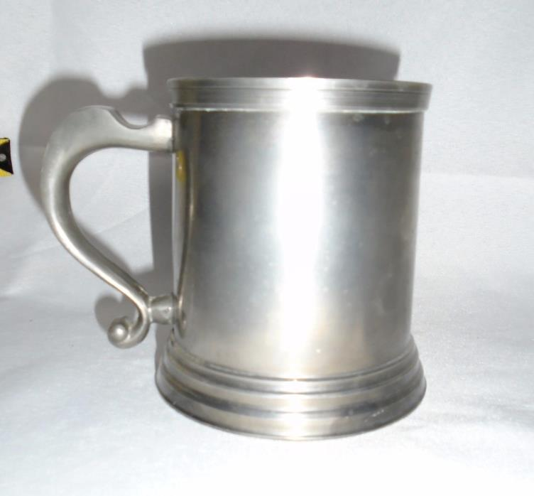 VTG English Pewter Beer Tankard Mug Hand Made in England