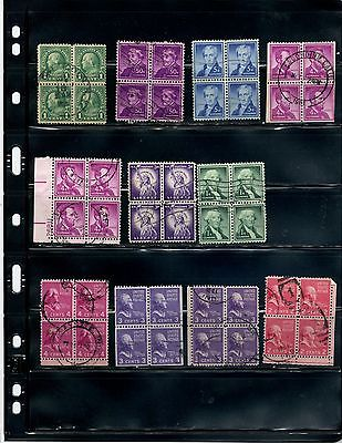 Lot 085 Assorted Used Blocks of Four  **SEE PIC**