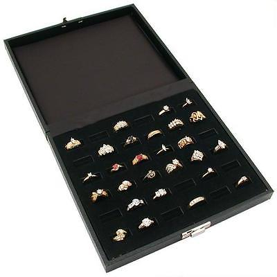 36 Slot Black Wide Ring Display Case