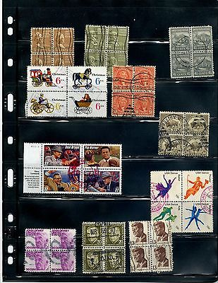Lot 087 Assorted Used Blocks of Four  **SEE PIC**