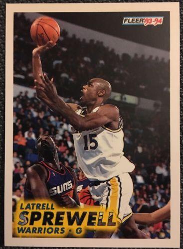 1993 1994 Fleer Latrell Sprewell #73 Basketball Trading Card