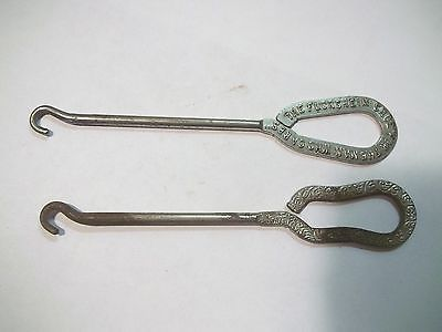 2 Old Advertising Shoes Button Hooks one is Florsheim