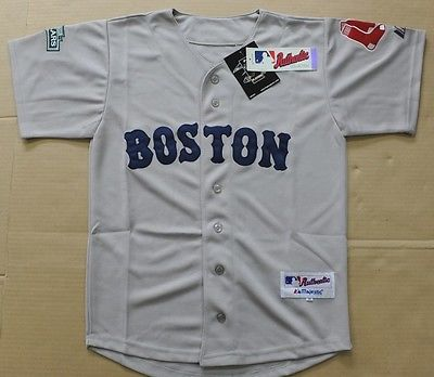 Majestic Boston Red Sox  Away Gray Jersey Size 36 Brand New W/Tags