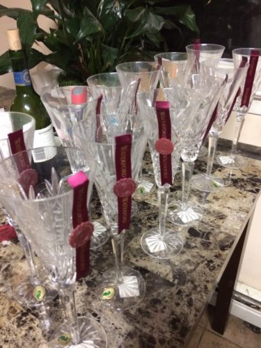 Waterford Crystal 12 Days Of Christmas Flutes New