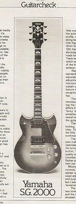 Yamaha SG-2000 Electric Guitar Review Article