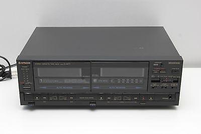 Vintage Hitachi D-W77 Stereo Dual Cassette Deck Recorder / Player