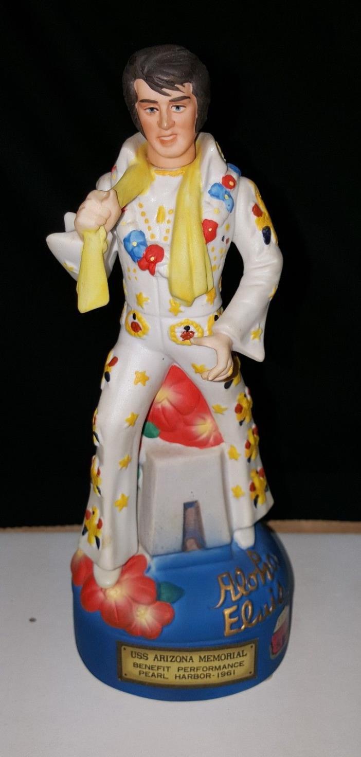 Elvis Presley Music Box Decanter Aloha Elvis USS Arizona Memorial Pearl Harbor