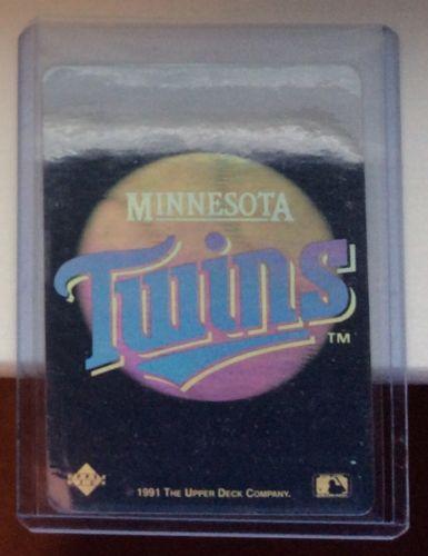 MINNESOTA TWINS (1) 1991 Upper Deck Hologram Series Sticker MLB Baseball Nm~Mt