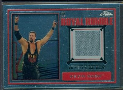 2014 TOPPS CHROME WWE WRESTLING ROYAL RUMBLE EVENT-USED MAT RELIC KEVIN NASH