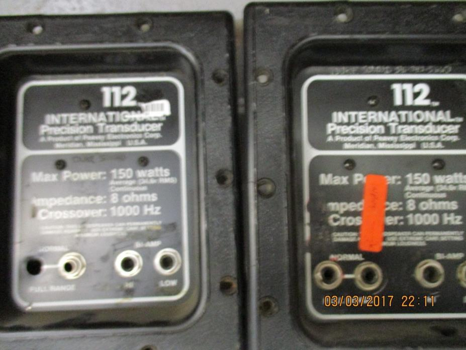 Vintage PEAVEY International 112 PA crossover PAIR