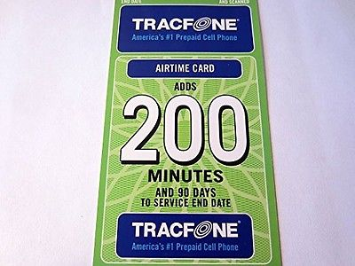 TracFone $39.99 Refill 200 Minutes 90 Days, Refill Card To Apply To your Phone