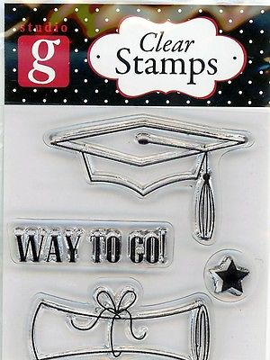 Studio G Graduation Clear Stamp Set - VC0010 Series 30