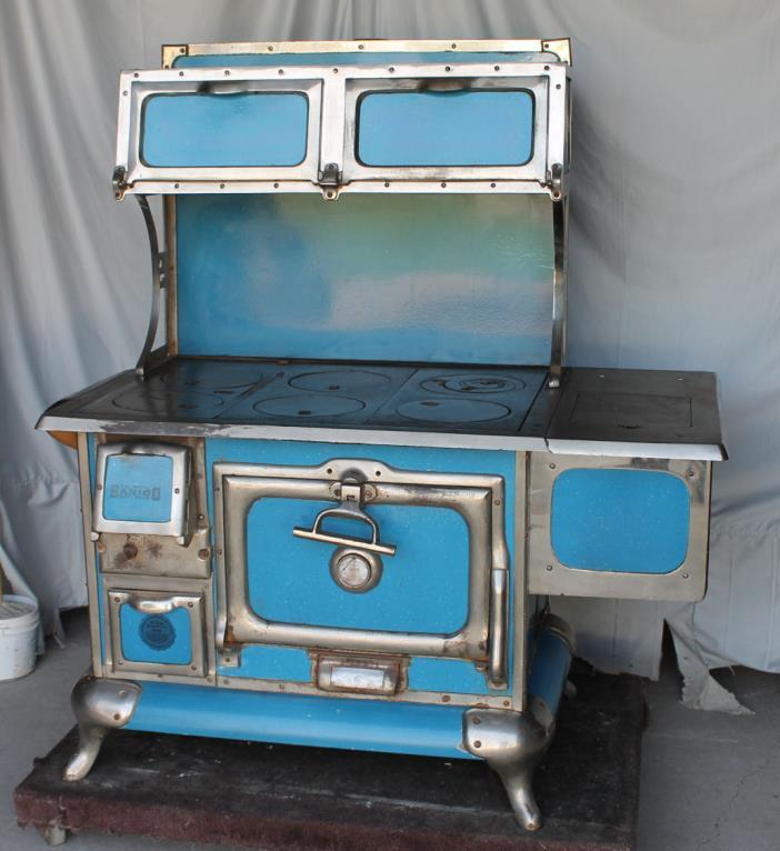 Antique Cook Stove Sanico American Range Blue Granite Cook Stove