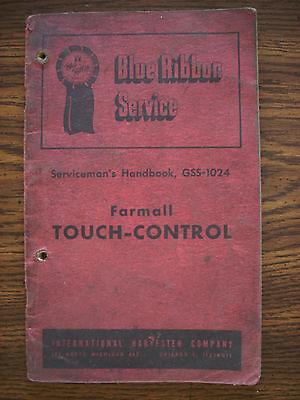 IH Farmall Mccormick Cub Super A Super C Touch Control Hydraulics Service Manual