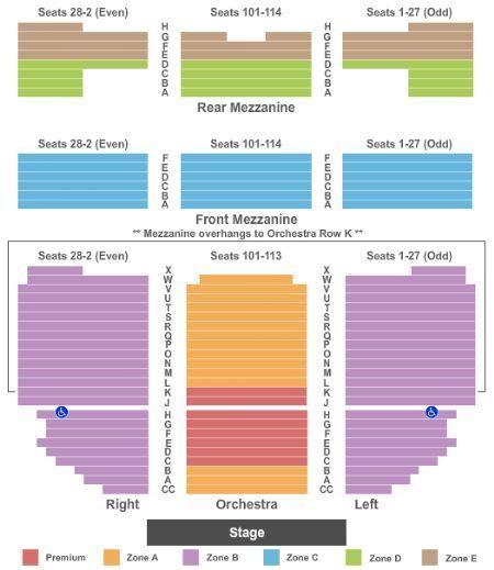 Hamilton NY 1 Ticket Row D - Seat 107 - Center Orchestra Saturday 8PM April 29
